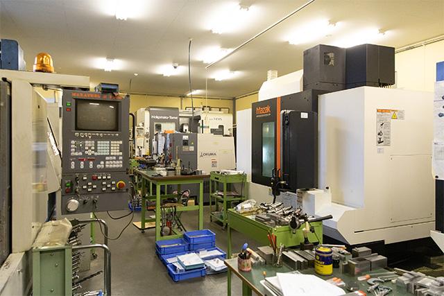 一貫した加工設備と生産体制